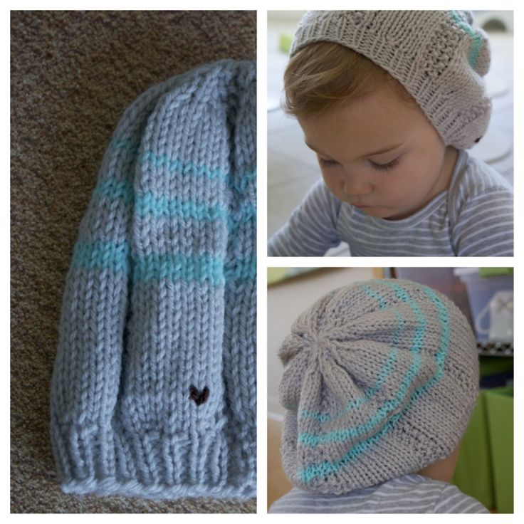 "Deco in ""Seaside"" slouchy beanie in toddler. Made with <3 by http://AlyssaPrice.com"