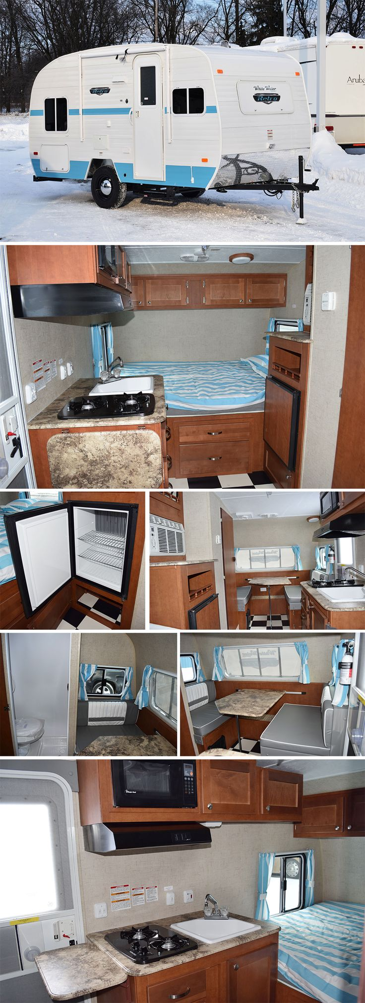 Introducing the 2015 white water retro 166 from riverside rv featuring a full queen bed