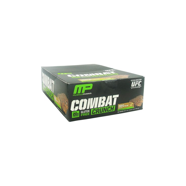 Muscle Pharm Combat Crunch Protein Bar - Peanut Butter Cup - 12ct