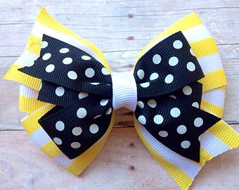 Custom 3 inch double pinwheel hair bow by BrownEyedBowtique