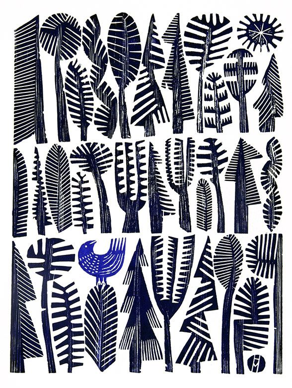 Blue Bird by Hilke MacIntyre Pinned by https://www.itsalight.co.uk to Patterns #homedecor #design