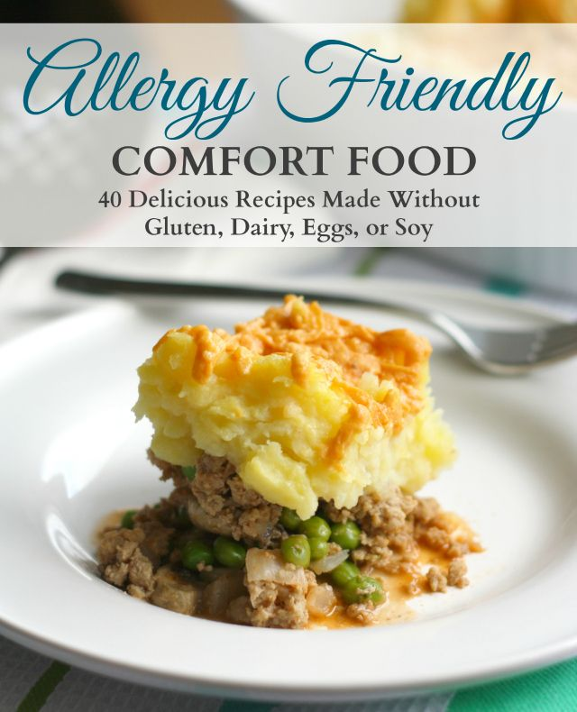 An ebook of allergy friendly comfort food recipes. All the recipes in this ebook are gluten free, dairy free, egg free, and soy free.