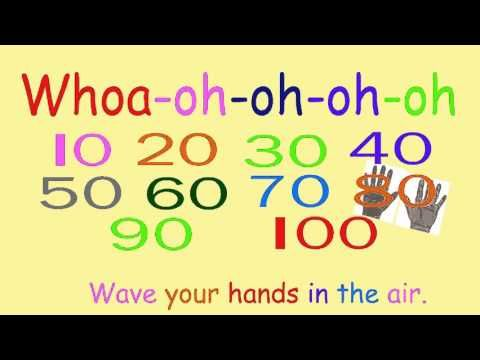 Fun Rock Anthem about counting by 10s to 100 Wave your hands in the air! Whoa Yeah We're Counting By 10s To 100