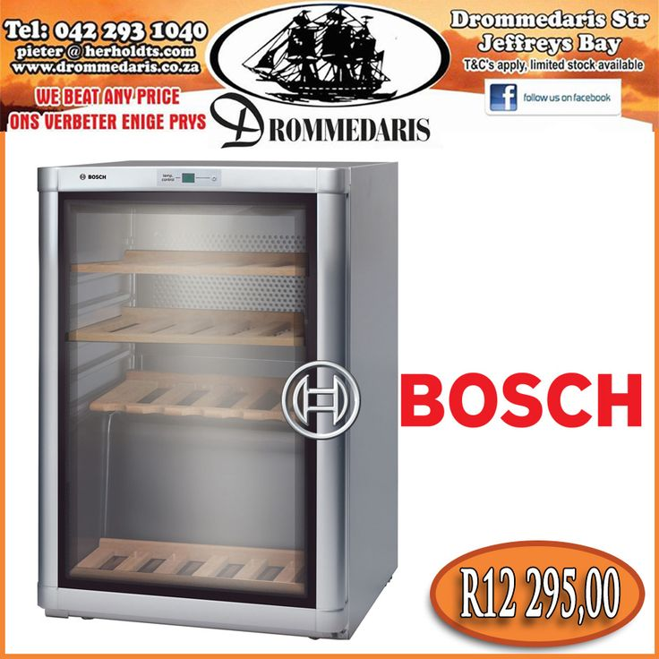 This range of Bosch products are exclusively designed for the storage of wine. This specific cabinet has the capacity to store 43 750ml wine bottles. Click here to read more, http://apost.link/wb. #hospitality #wine #drommedaris