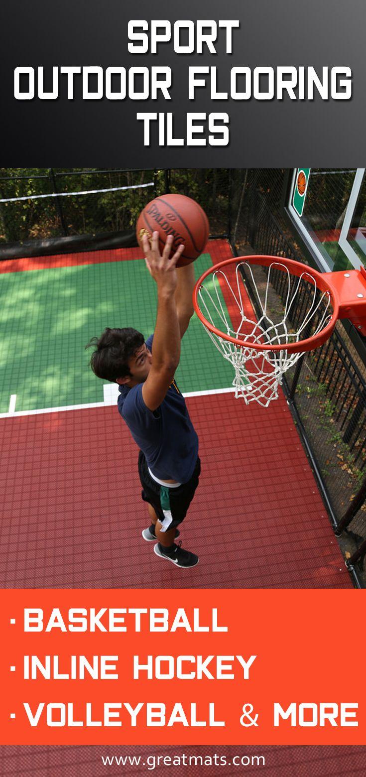 Outdoor Court Tile Xt3 Outdoor Basketball Court Basketball Workouts Backyard Basketball