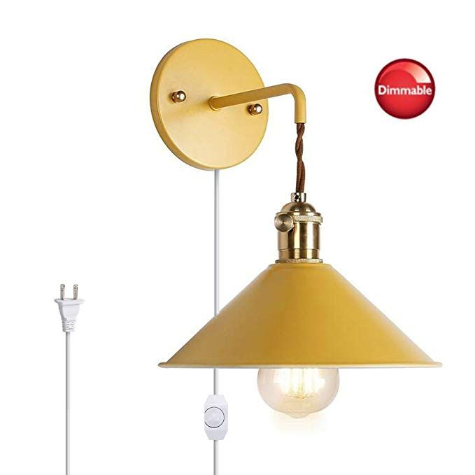 Kiven Nordic Dimmable Wall Sconce Macaron Yellow Bedside