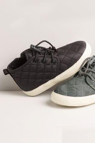 Čierna Prešívané členkové topánky (Mladší chlapci)