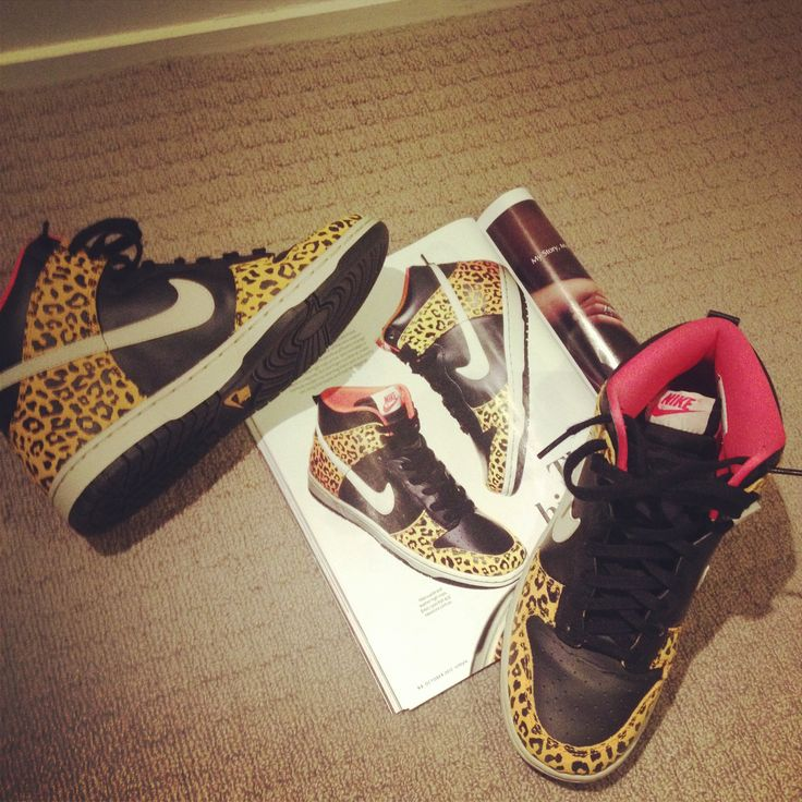 Love of The Week: Nike High Tops with Leopard Print.