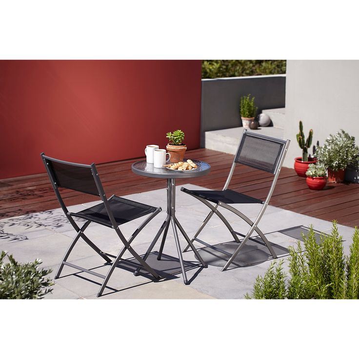 Cuba 3 Piece Balcony   Bistro Set Charcoal   Garden Furniture   ASDA direct    home   Pinterest. Cuba 3 Piece Balcony   Bistro Set Charcoal   Garden Furniture