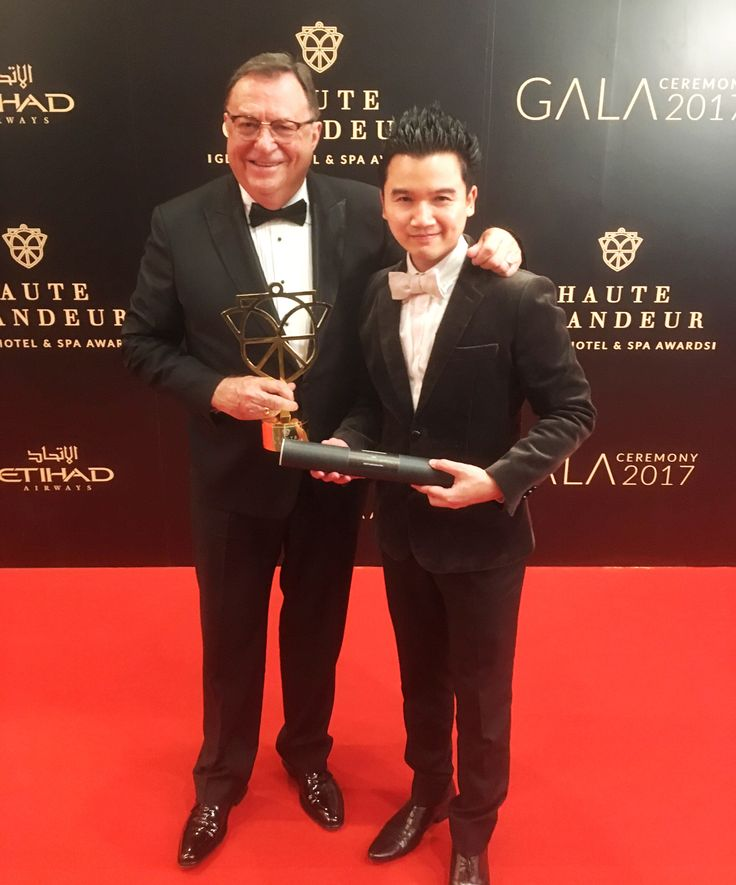 Attending the Haute Grandeur Global Hotel and Spa Awards ceremony with Lyle