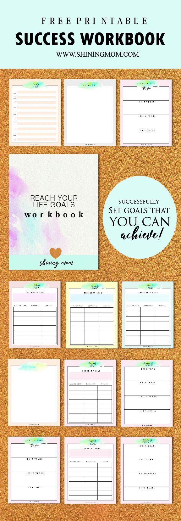 Download your free Success Workbook and Goal Setting Worksheets {newsletter subscription required}
