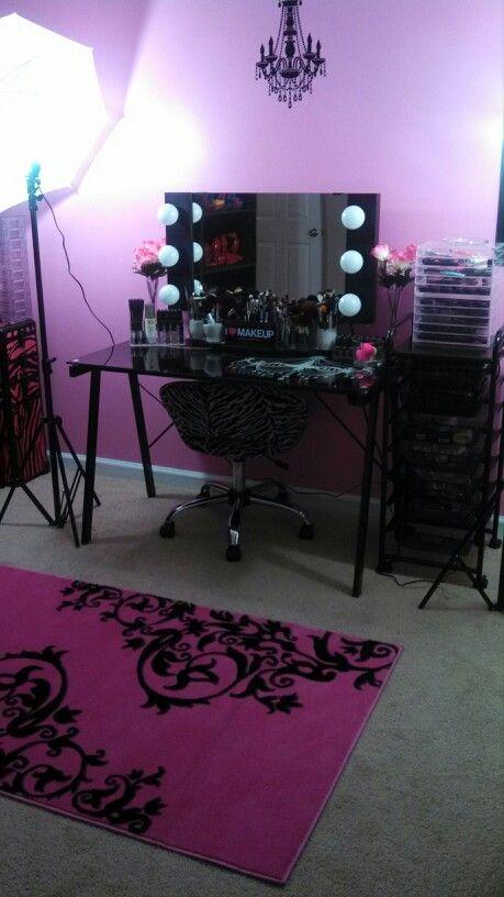 My makeup vanity!!!
