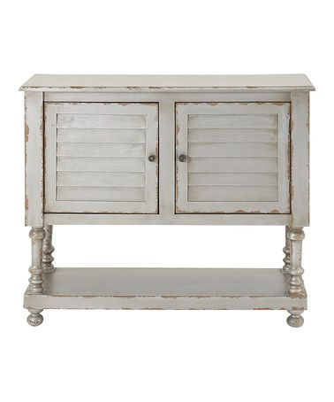 Look what I found on #zulily! White Distressed Console Cabinet #zulilyfinds