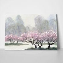 Delicate flowering trees