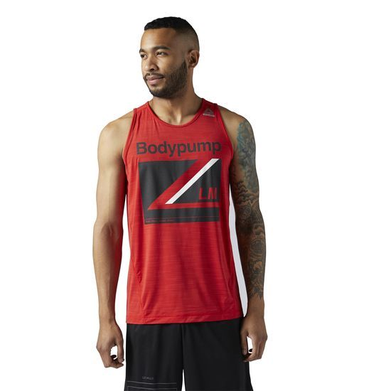 Reebok - LES MILLS BODYPUMP Tank: Push your limits every day. This tank will work with you, not against you. With Speedwick technology, the tank top wicks away sweat throughout your BODYPUMP workout.