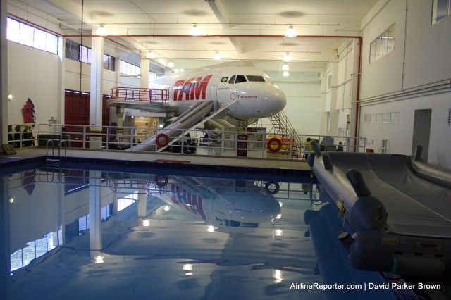 TAM Airlines' flight training area - with pool