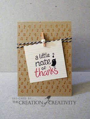 card making idea - would be cute with sheet music in background
