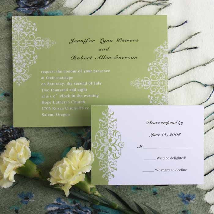 second wedding invitations wording%0A Simple But Elegant Wedding Invitations  VPgifts