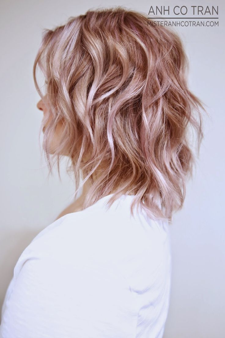 Rosé  Goud en Aardbei-blond zijn hippe kleuren voor herfst 2015, bekijk hier halflange en korte voorbeelden!