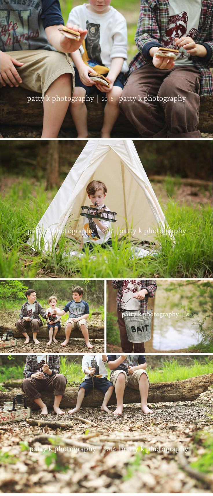 Camping Adventure | Imagination Session | Fayetteville, NC Child Photographer | Patty K Photography