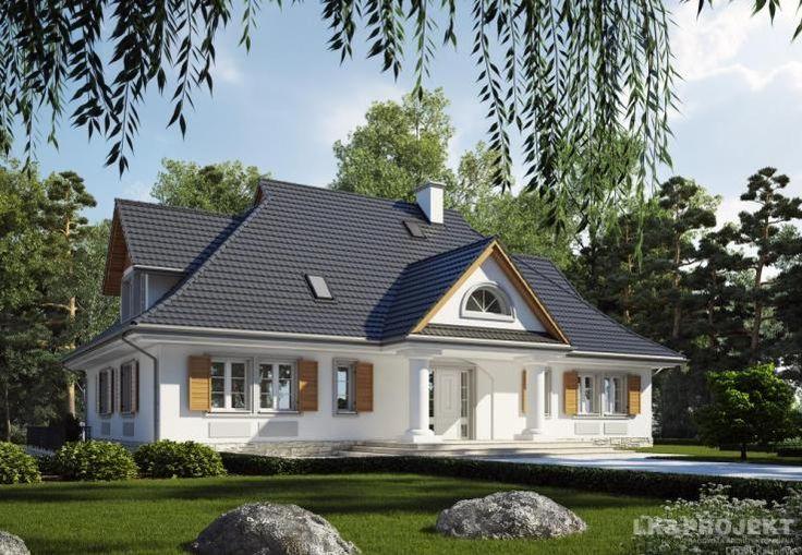 Projekt domu LK&681. Mansion plan.  #projekt #domu #dom #projektdomu #projektydomow #projektydomów #budowa #buduje #buduję #budujedom #budujędom #house #houseplan #plan #architecture #modernhouse #modern #project #houseproject #dworek #dwór #mansion #manor