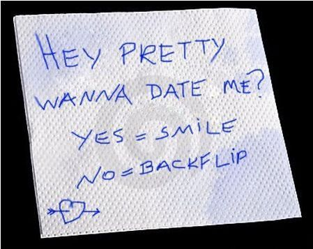 This is a pretty funny way to ask someone out...lol