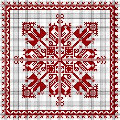 Free biscornu pattern