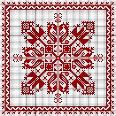 biscornu cross-stitch - free