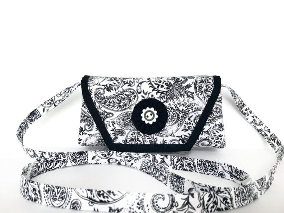 Black and White Crossbody bag Classic Black by AddaSplashofColour