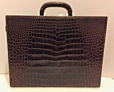 VINTAGE GUCCI ALLIGATOR  - CROCODILE BRIEFCASE - ATTACHE CASE - RARE FIND!