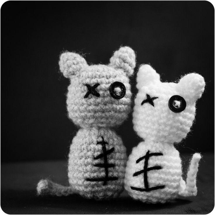 Tutorial Chat Zombie - patron tricot - Le royaumes des ...
