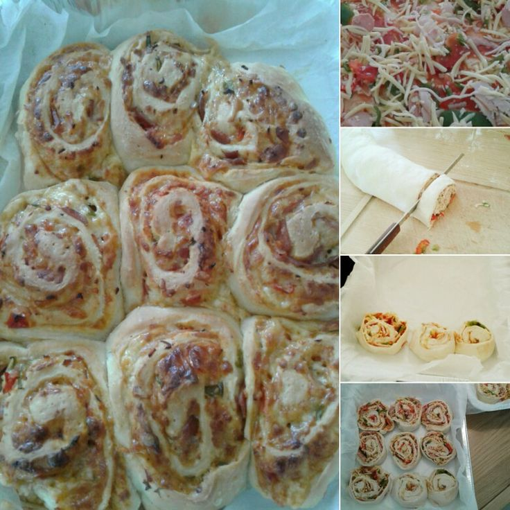 Pizza roll with cinnamon roll dough 🍕🍕🍕🍕