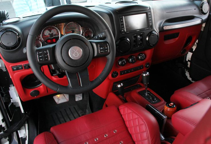 Jeep Wrangler Lifted >> Deamau5 Custom Jeep interior | Deadmau5 Custom Jeep Las Vegas | Custom cars, Custom car interior ...