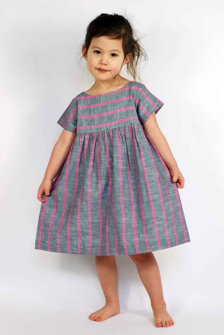 Jenna dress in handwoven linen.