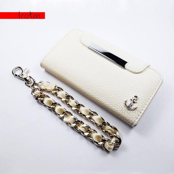White+iPhone+5S+Wallet+Phone+Case+Anchor+by+ShopTrokm+on+Etsy,+$14.99  www.shoptrokm.com www.etsy.com/shop/ShopTrokm