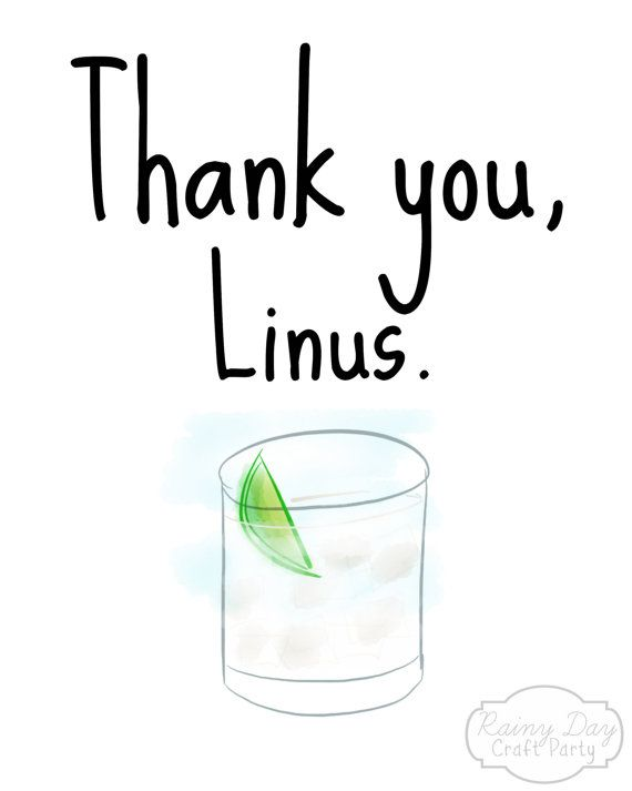 Thank you, Linus (How I Met Your Mother-inspired), 8x10 original digital watercolor poster, printable, digital on Etsy, $5.00