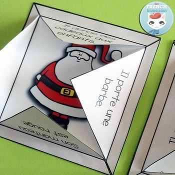 French Christmas Lapbook by For French Immersion | Teachers Pay Teachers