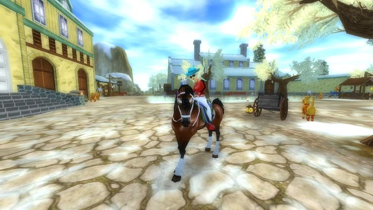Ja na moim koniu w Jorvik ^^