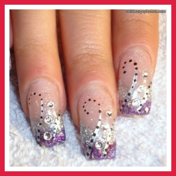 sparkly nails art | nail art designs with glitter pictures photos video pictures 57