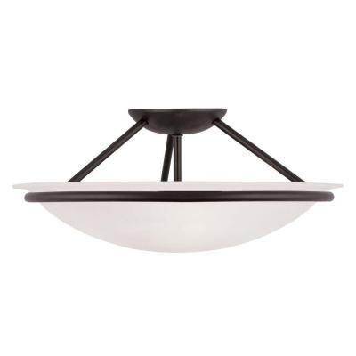 Filament Design Providence 3-Light Ceiling Black Incandescent Semi-Flush Mount-CLI-MEN4824-04 - The Home Depot
