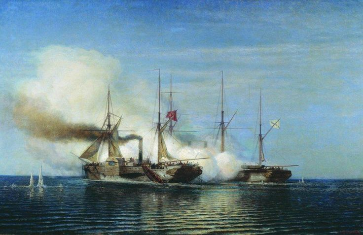 Bogolyubov Alexey - Battleship capture  of the frigate Vladimir turkish steamer pervaz bahri 1858