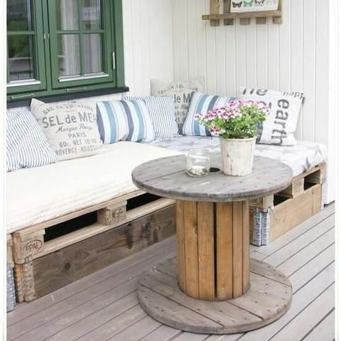 82 best ideas para el hogar images on pinterest trench - Muebles hechos con palets ...
