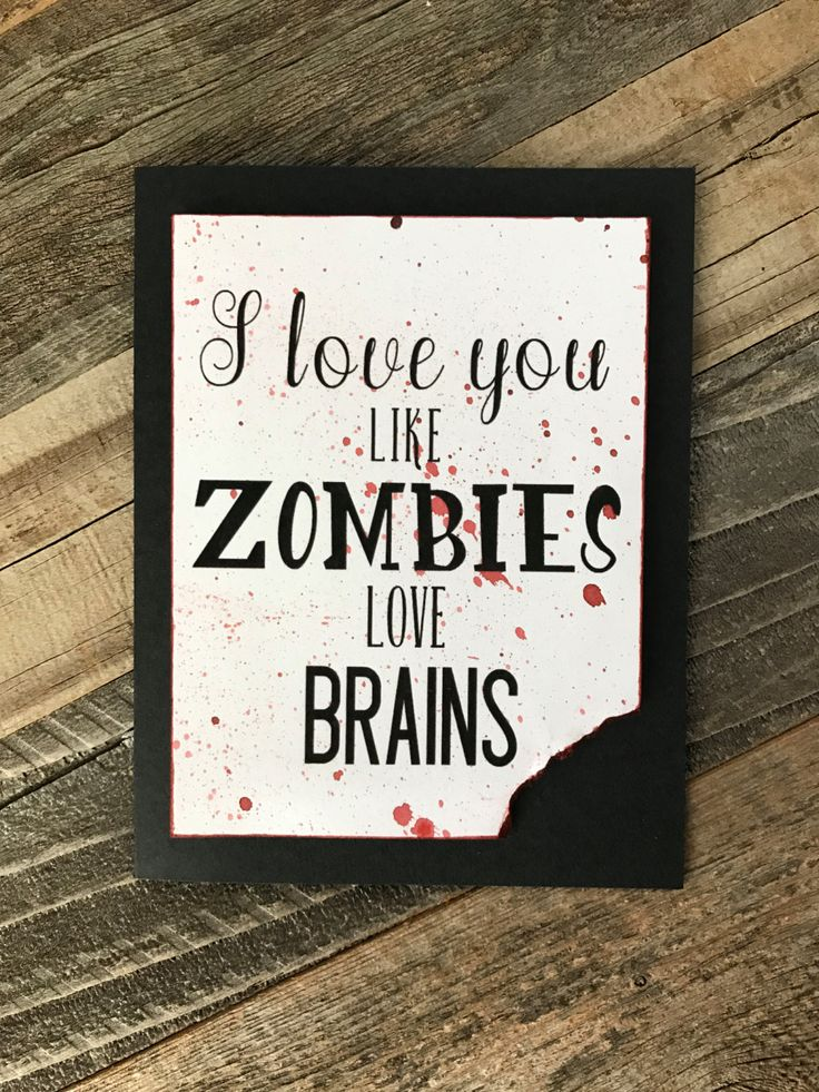 Zombie Greeting Card Love Valentines Day Funny Card