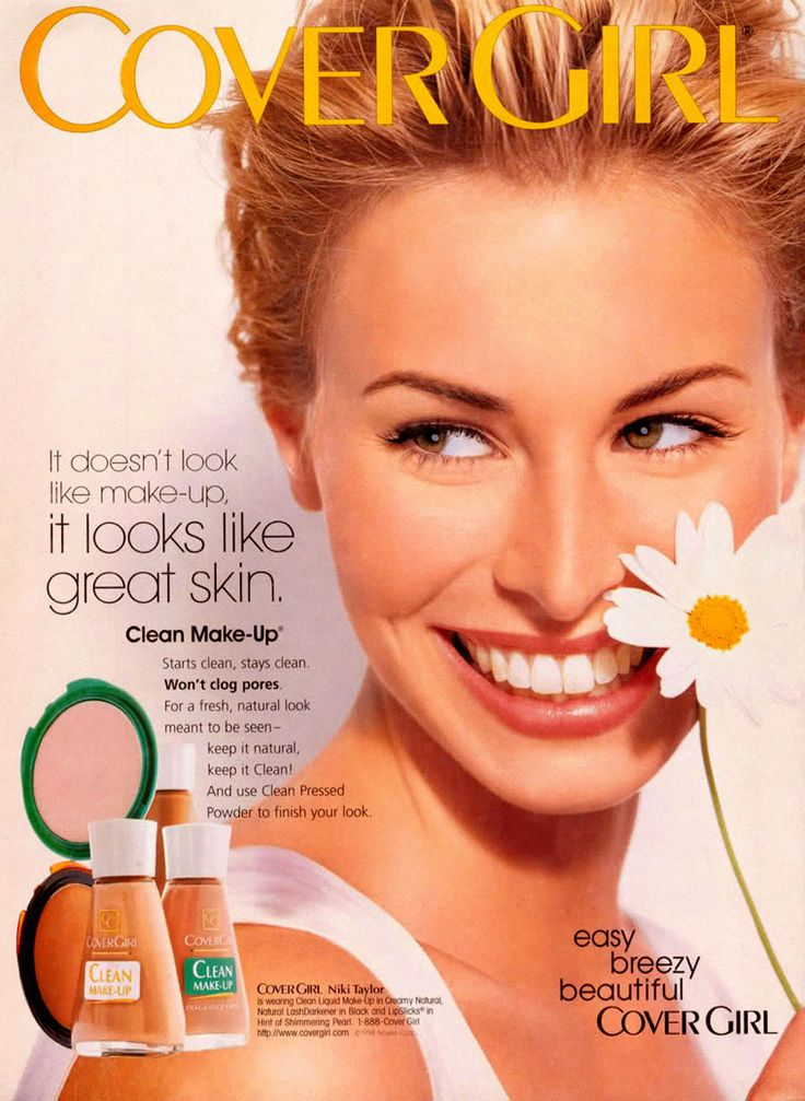 How 90s is this-- Niki Taylor and Covergirl Clean Makeup!