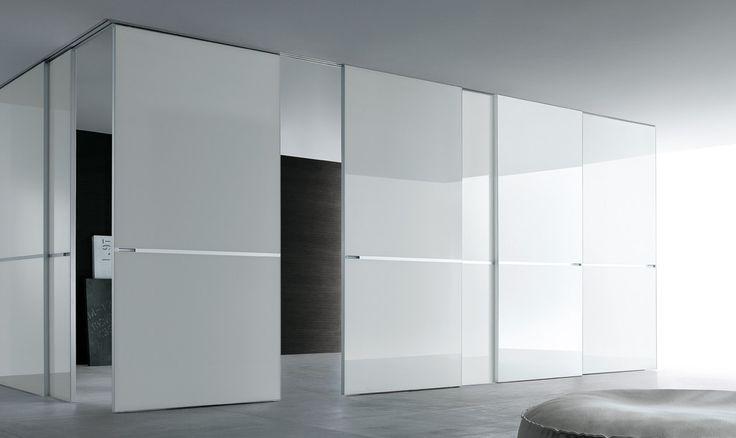 Beautiful Sliding Glass Door Systems - Rimadesio - Graphis porte scorrevoli per interni in vetro e alluminio, arredamento casa e ufficio - sliding_systems - Rimadesio