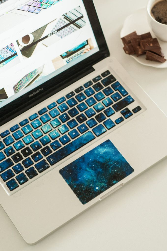 Blue Nebulae Decal Keyboard Sticker, keyboard decal, macbook stickers, keyboard decals macbook, macbook air decals, keyboard stickers for laptop