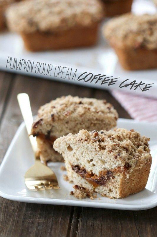 Pumpkin-Sour Cream Coffee Cake | Coffee Cake, Sour Cream Coffee Cake ...