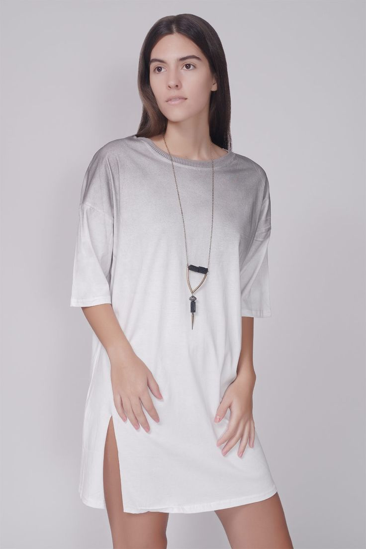 LUNAR - OMBRE OVERSIZED T-SHIRT #lookoftheday #cute #oversized #t-shirt #ombre #fashion
