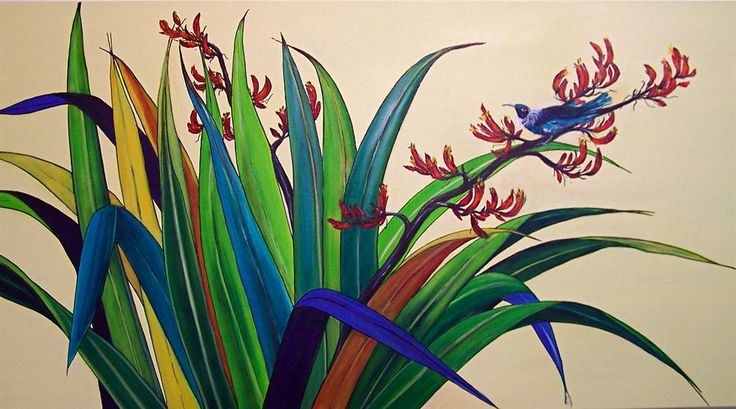 Tui Bird in Flax.jpg (1000×556)