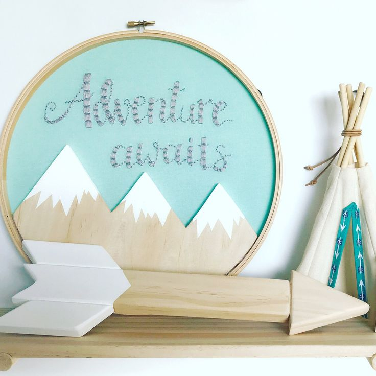 """We love custom orders! Get in touch today to discuss your ideas. This was a custom larger version (a whole 12"""" big!) of our normally 8"""" hoop. Anything is possible :)"""